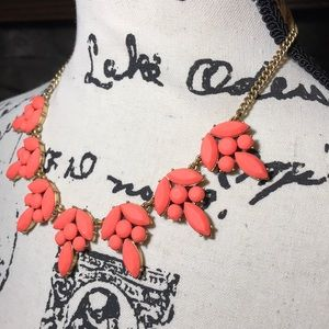 J. Crew bright coral statement necklace
